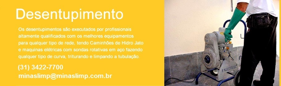 Desentupidora em Belo Horizonte